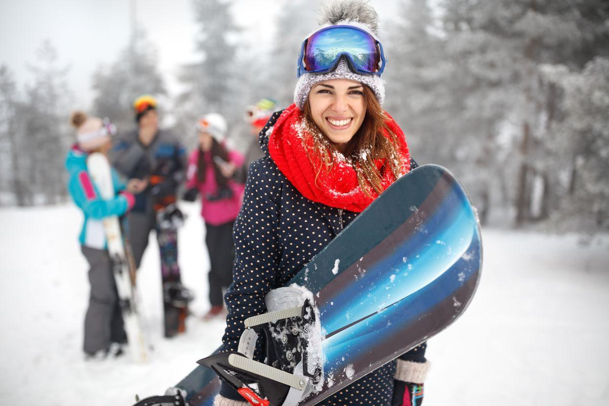 Ragazza Tuta Snowboard
