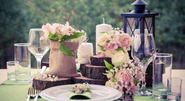 Centrotavola per matrimonio vintage