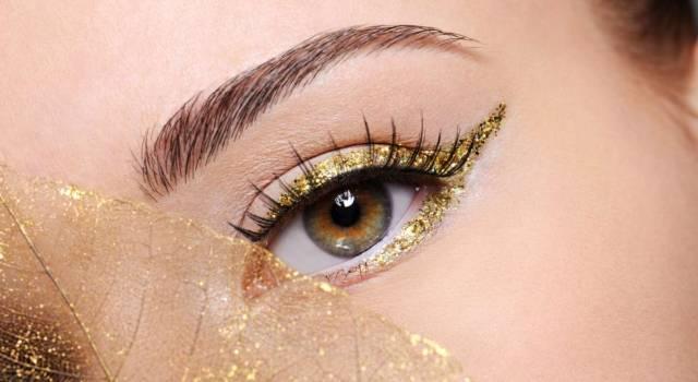 Make up capodanno glitter e strass