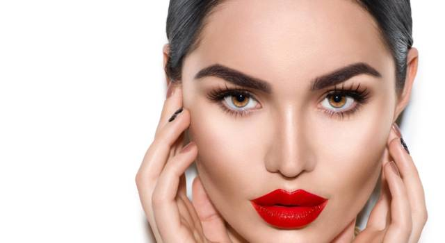 Trucco occhi per rossetto rouge noir Chanel