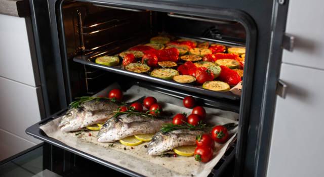 Come cucinare il branzino al forno