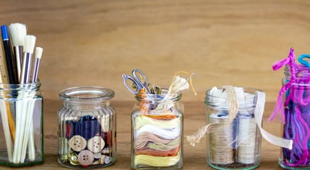 Idee riciclo barattoli di vetro