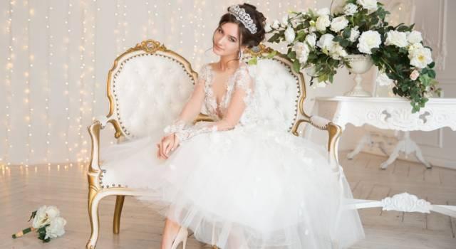 Acconciature da sposa inverno con capelli medi