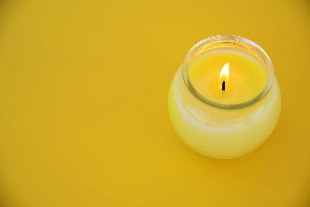 candela centrotavola citronella
