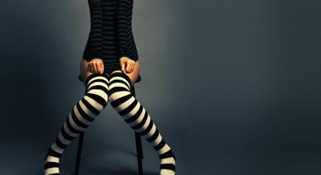 Come abbinare le calze con le righe