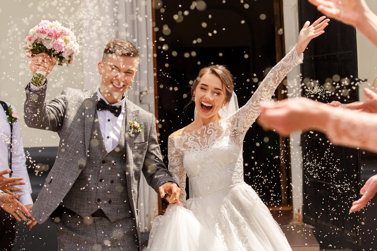 matrimonio coppia riso