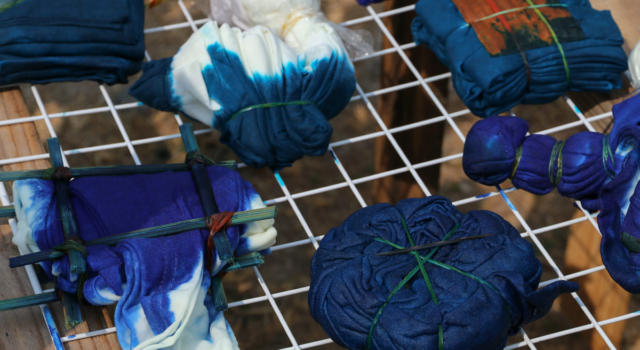 Come tingere tessuti con tecnica giapponese Shibori