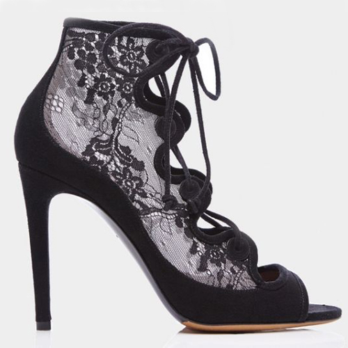 Ankle boot pizzo