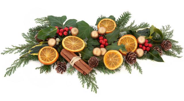 Come fare il centrotavola di Natale con le arance
