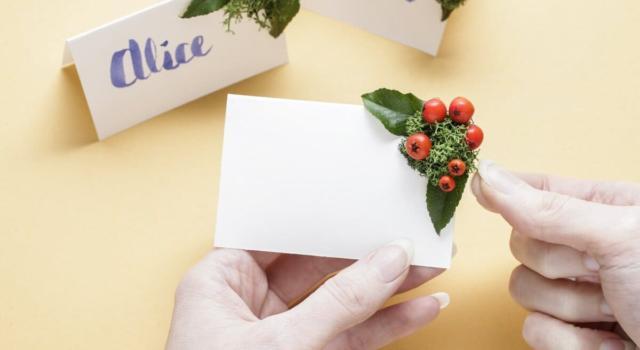 Come fare segnaposto di Natale con materiale di riciclo