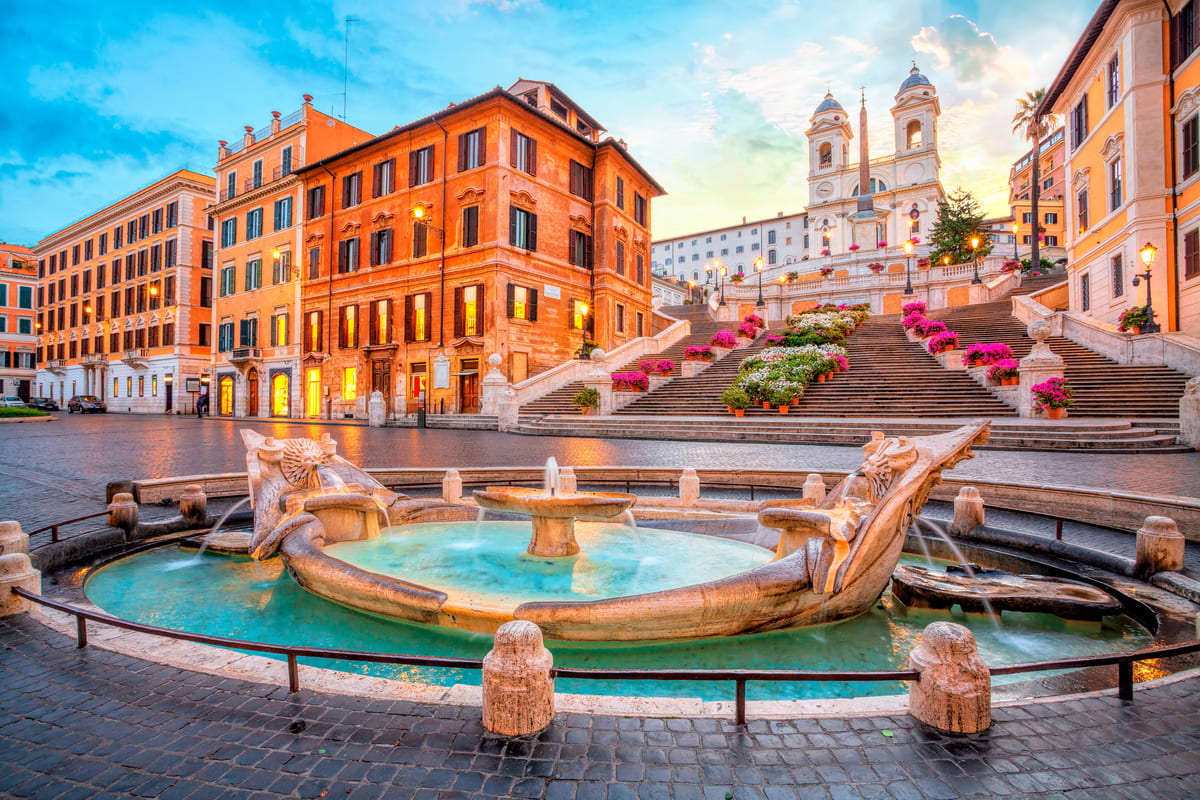 panoramica Roma piazza di spagna