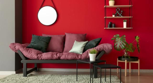 Come arredare casa con rosso