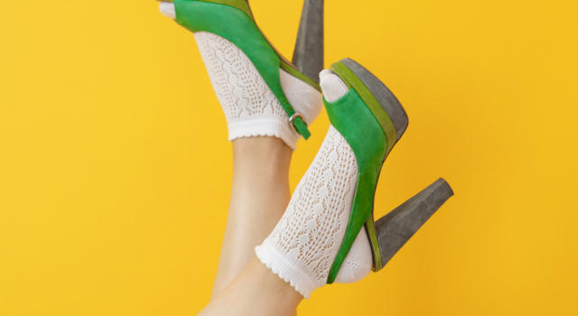 Quali calze indossare con peep toe