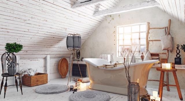 Come arredare il bagno con cesti di vimini