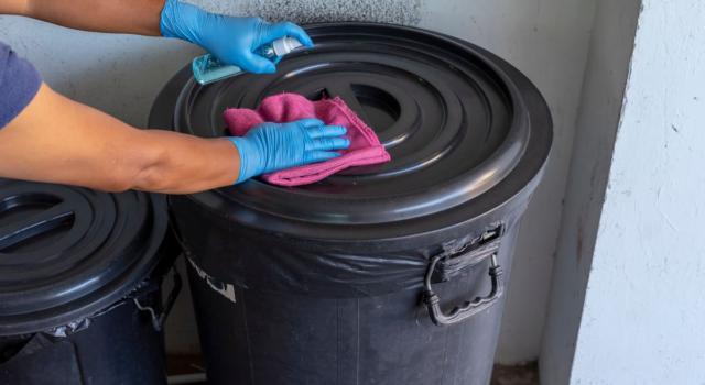 Come pulire bidoni della spazzatura