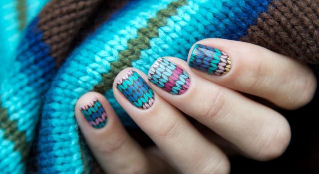 Come fare knit nail art