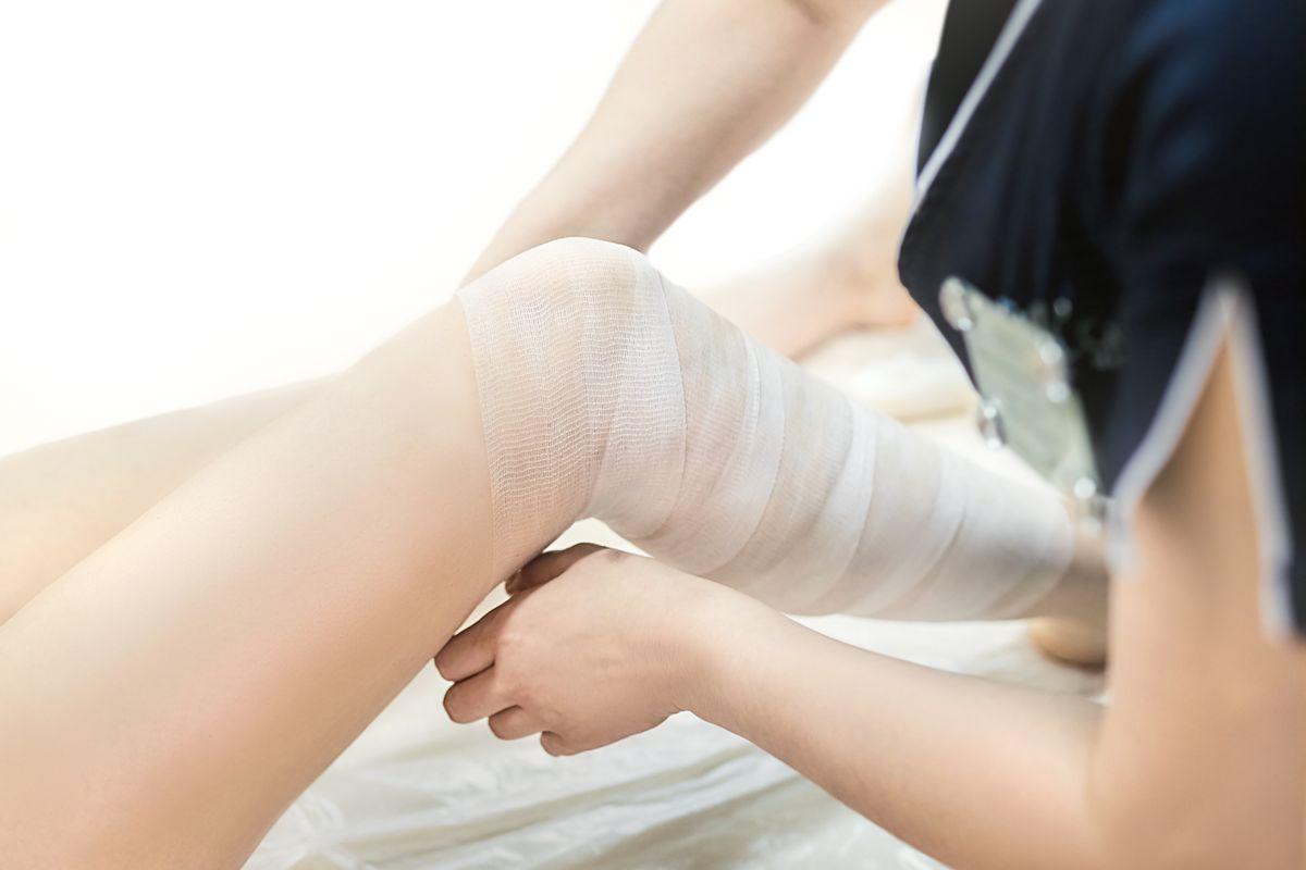 bendaggio anticellulite gambe