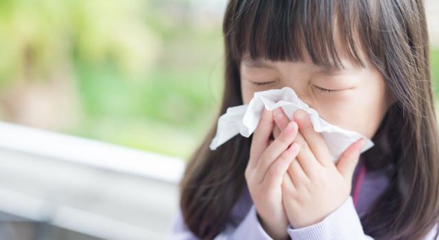 Il raffreddore nei bambini è molto comune