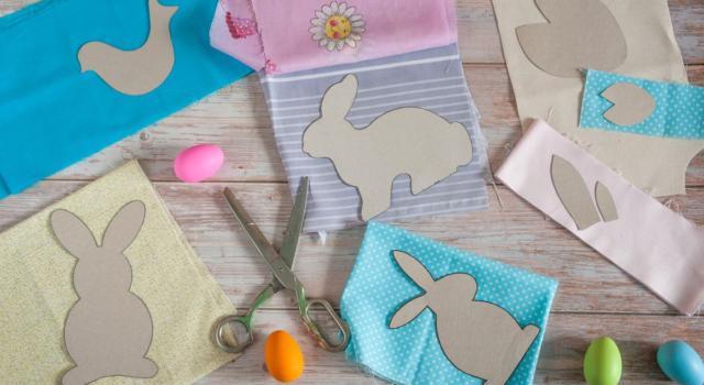 Come fare ghirlanda di Pasqua con patchwork