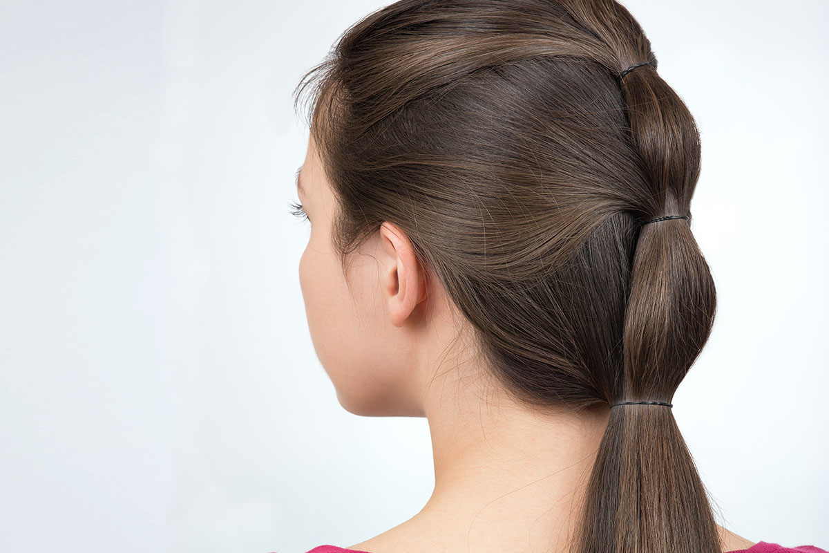 Bubble ponytail acconciatura