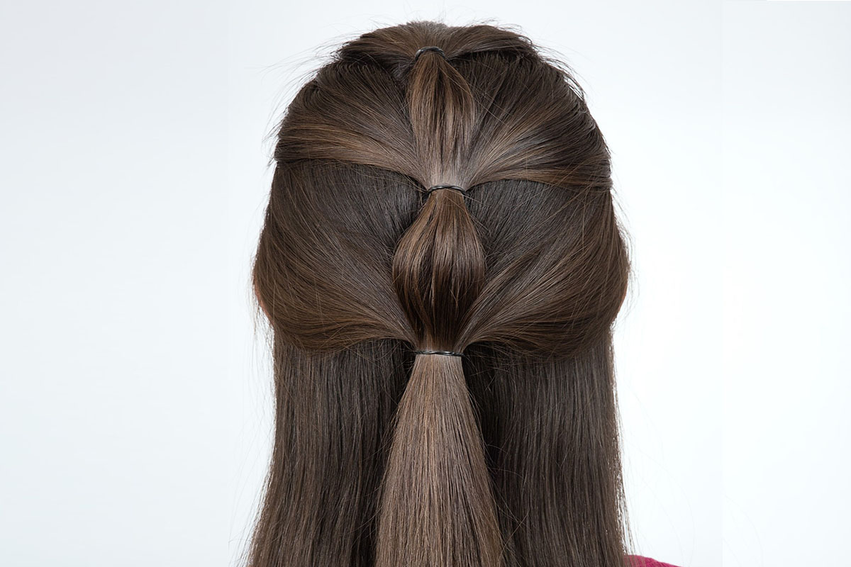 Bubble ponytail capelli