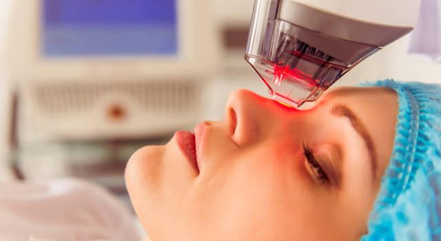 Curare pori dilatati con il laser