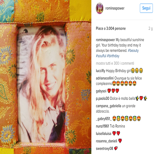 Romina Power instagram