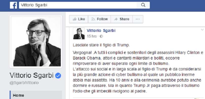 Vittorio Sgarbi post