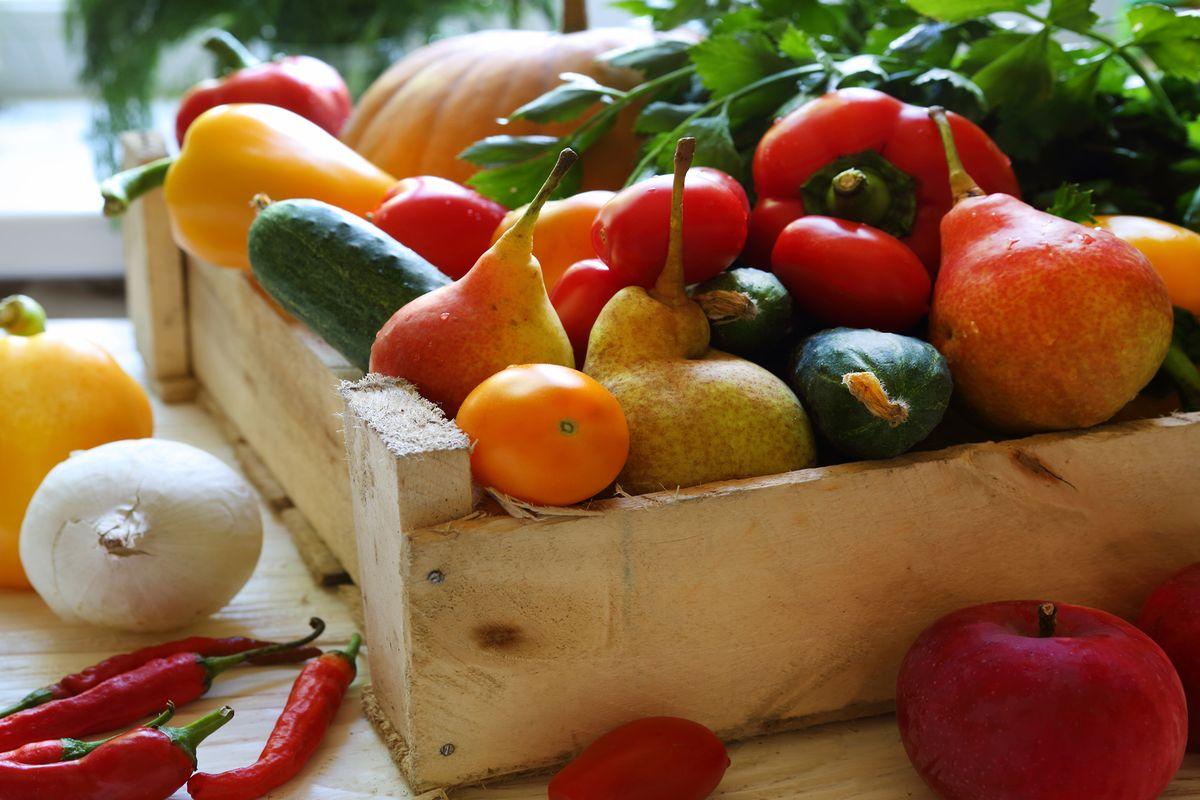 cassetta legno frutta verdura