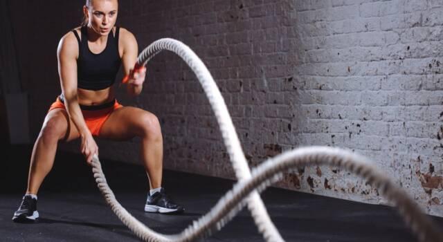 Battle rope, l'allenamento