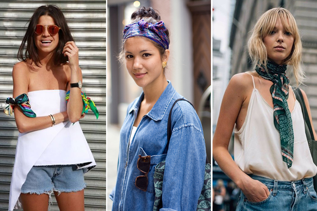 5 modi alternativi di indossare una sciarpa durante la bella stagione
