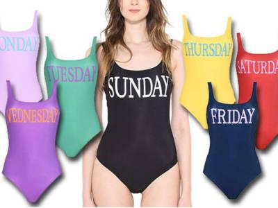 Alberta Ferretti beachwear: capsule collection Rainbow Week Swimsuits
