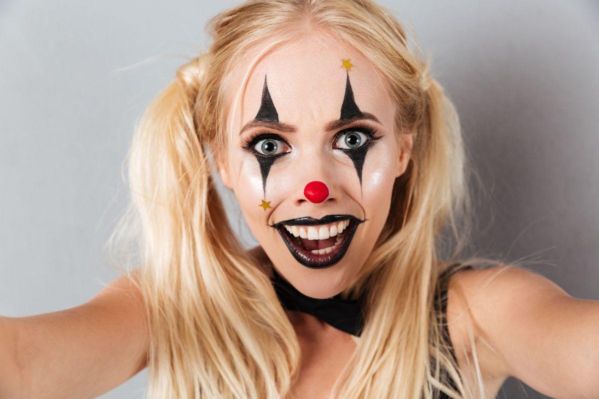 Trucco per Halloween: clown Harley