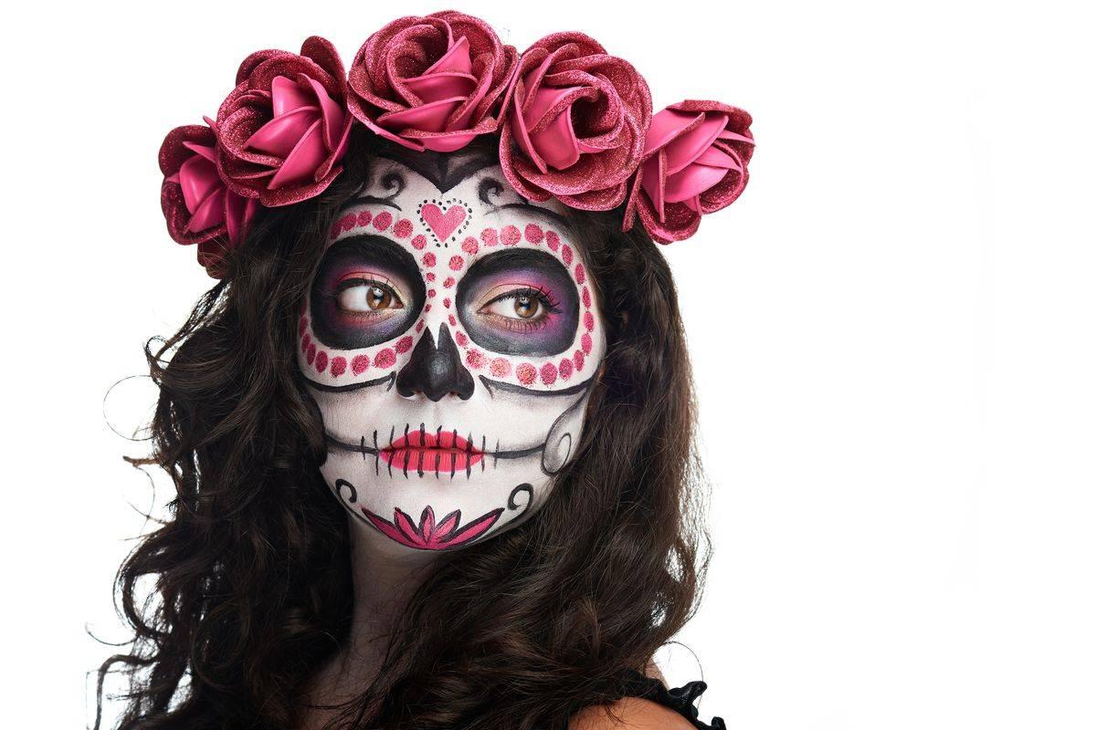 Trucco per Halloween da scheletro messicano