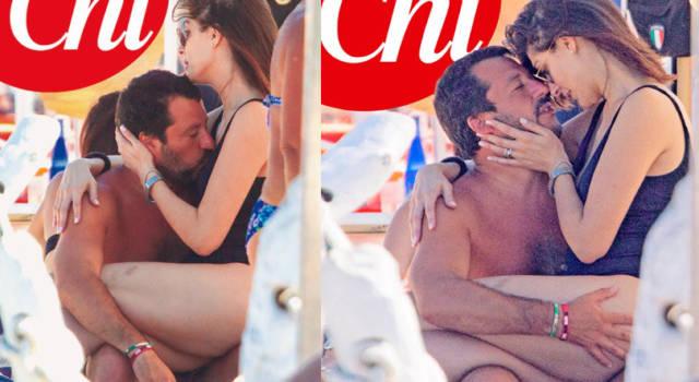 Elisa Isoardi e Matteo Salvini: coccole ed effusioni hot