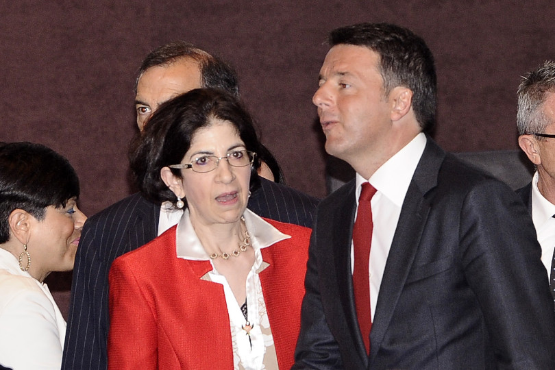 Fabiola Gianotti e Matteo Renzi
