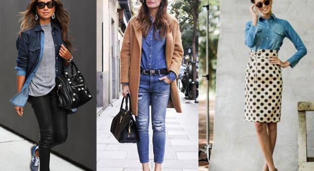 Must have dell'autunno: la camicia di jeans. Ecco come indossarla!