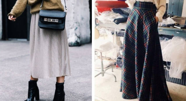 8 gonne lunghe must have per l'Autunno Inverno 2018-2019