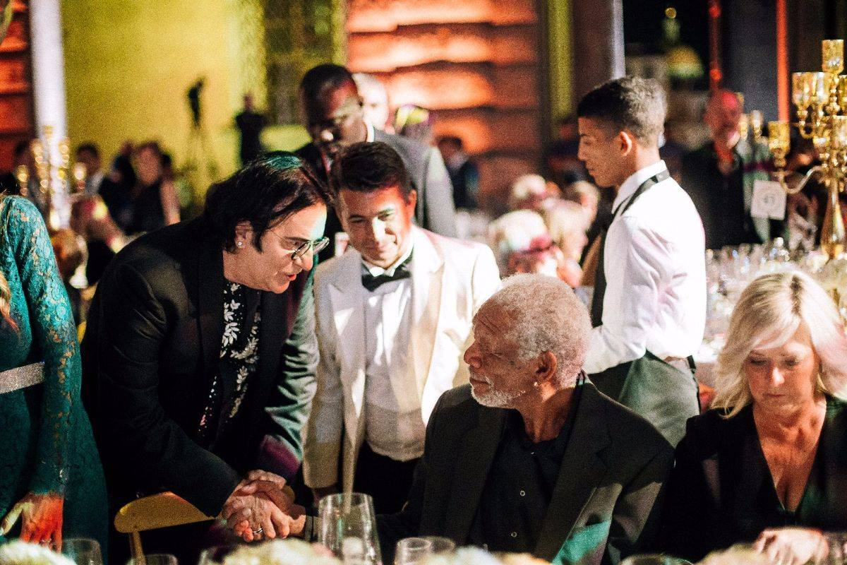 Renato Zero, Morgan Freeman, Linda Keena