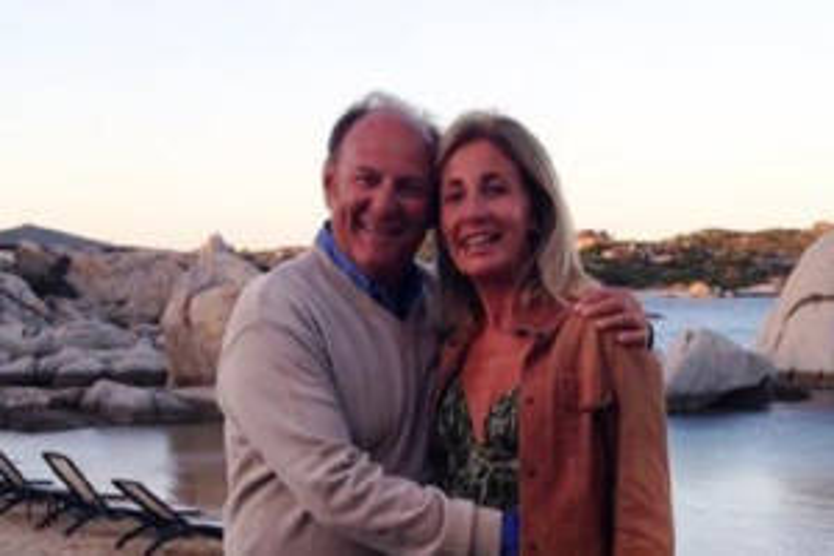 Gerry Scotti e Gabriella Perino