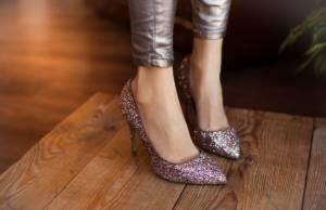 Scarpe di paillettes