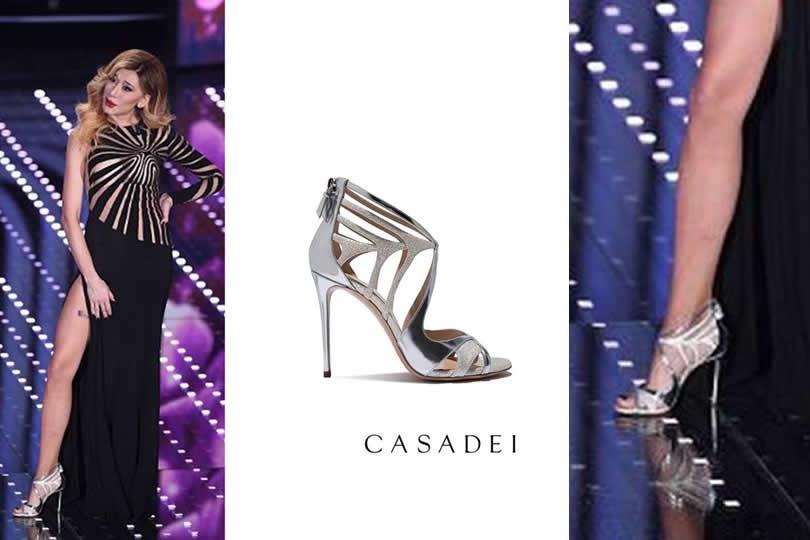 Virginia Raffaele, scarpe Casadei
