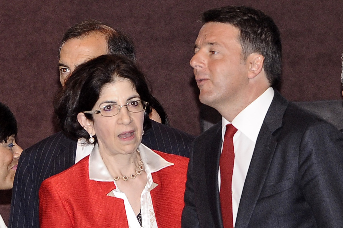 Matteo Renzi e Fabiola Gianotti