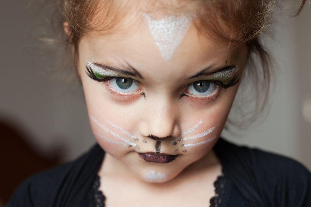 Trucco per bambina da gatto