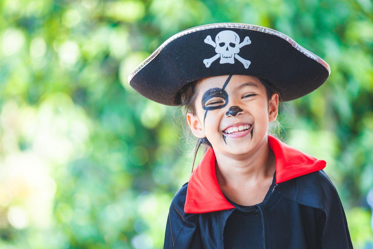 Trucco per bambina da pirata