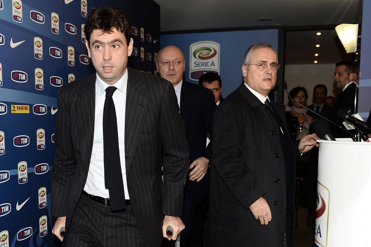 Andrea Agnelli e Claudio Lotito