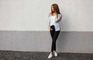 outfit camicia jeans