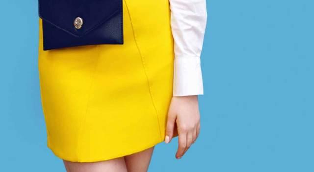 Outfit da lavoro in giallo per l'inverno 2017