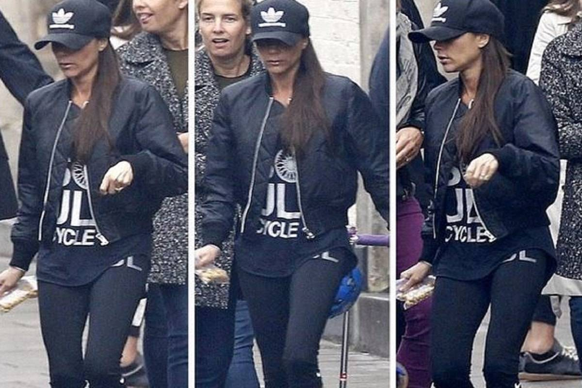 Victoria Beckam in leggings