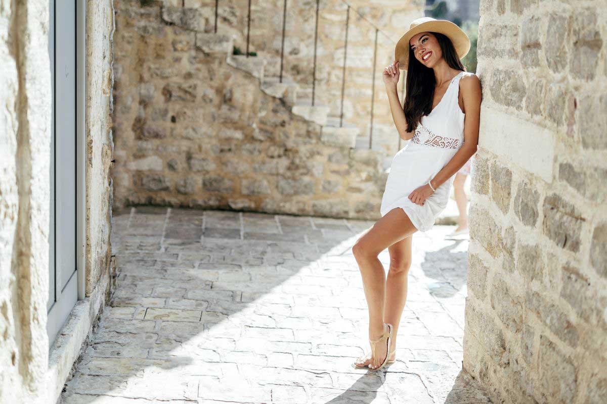 mini dress bianco